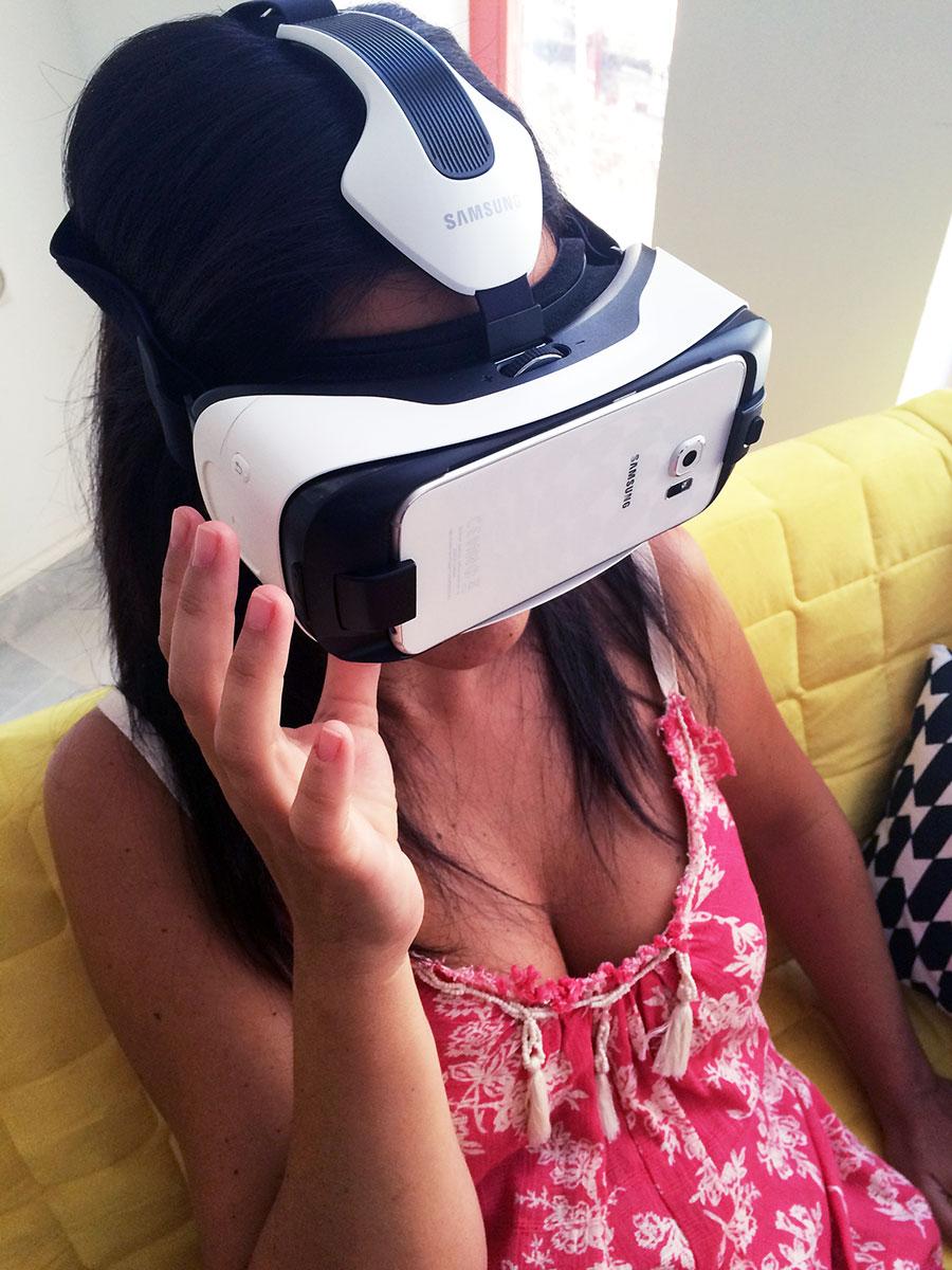 Fascinada con mi experiencia Gear VR de Oculus